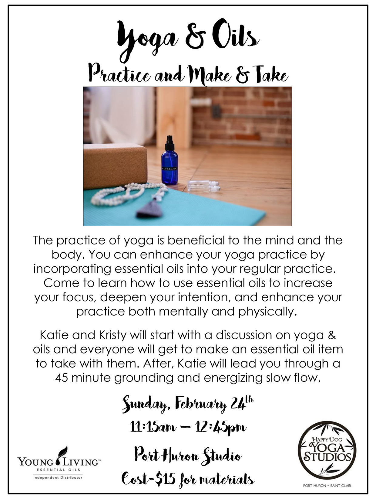 yoga and oils