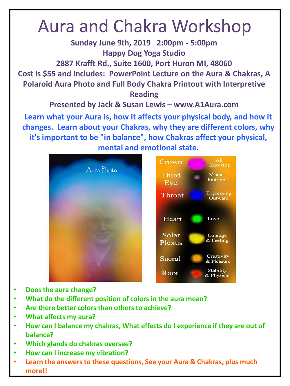 Aura and Chakra Workshop