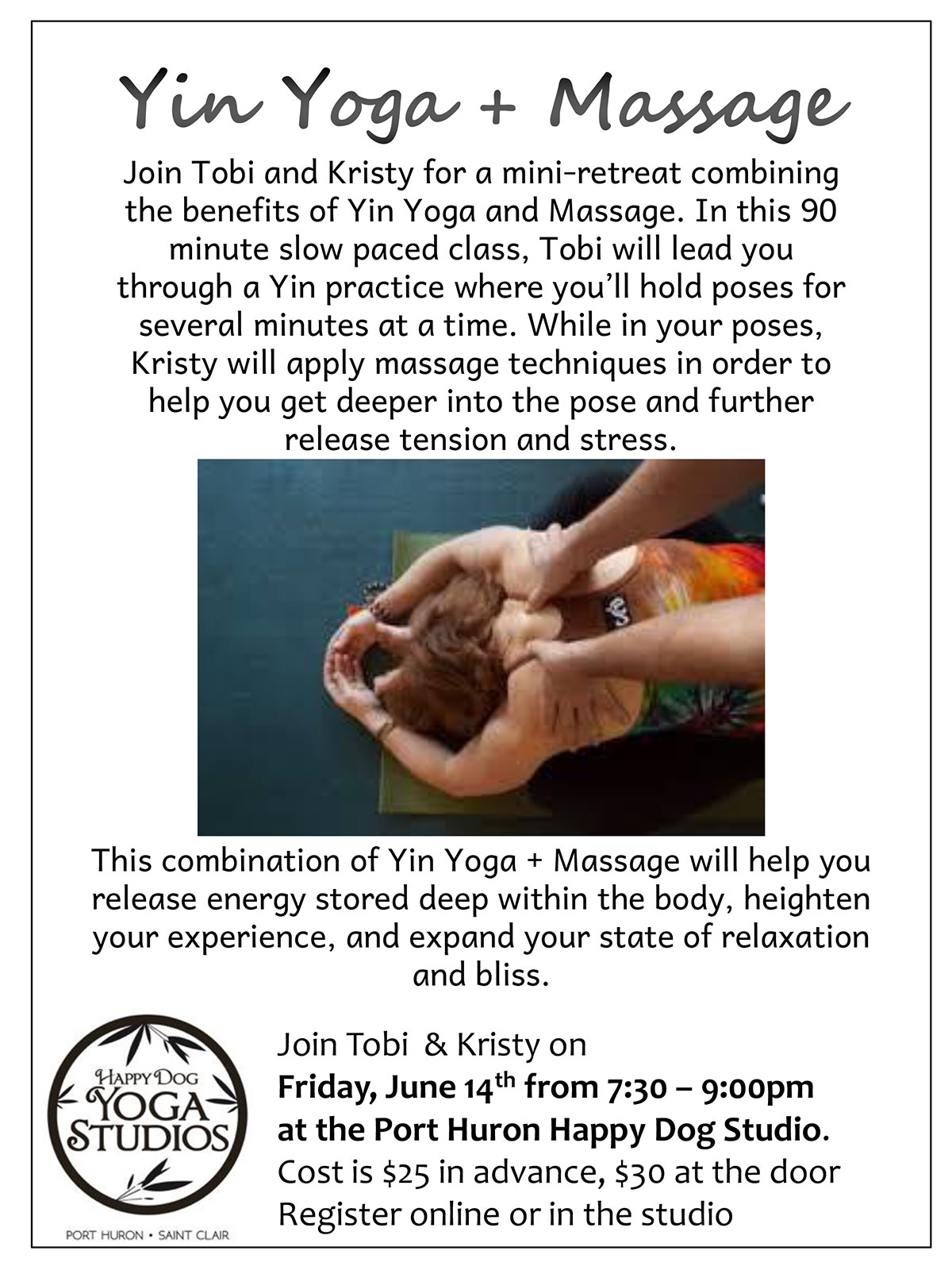 Yin Yoga + Massage