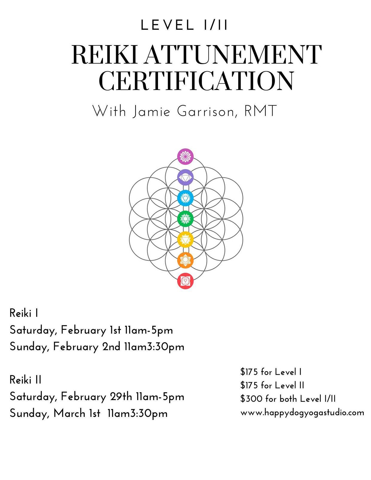 Level I/II Reiki Attunement Certification