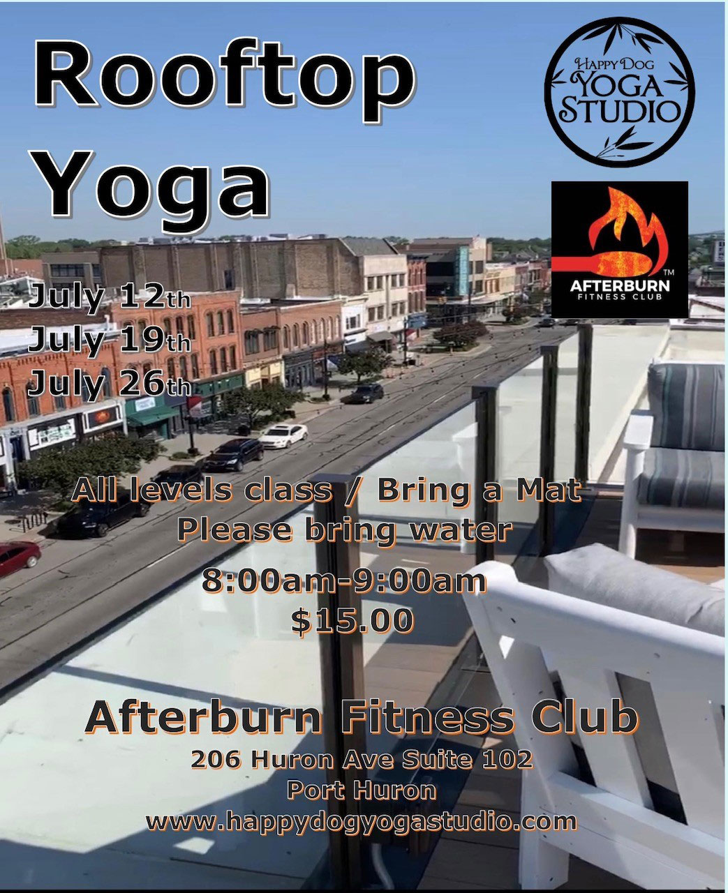 Rooftop Yoga in Port Huron