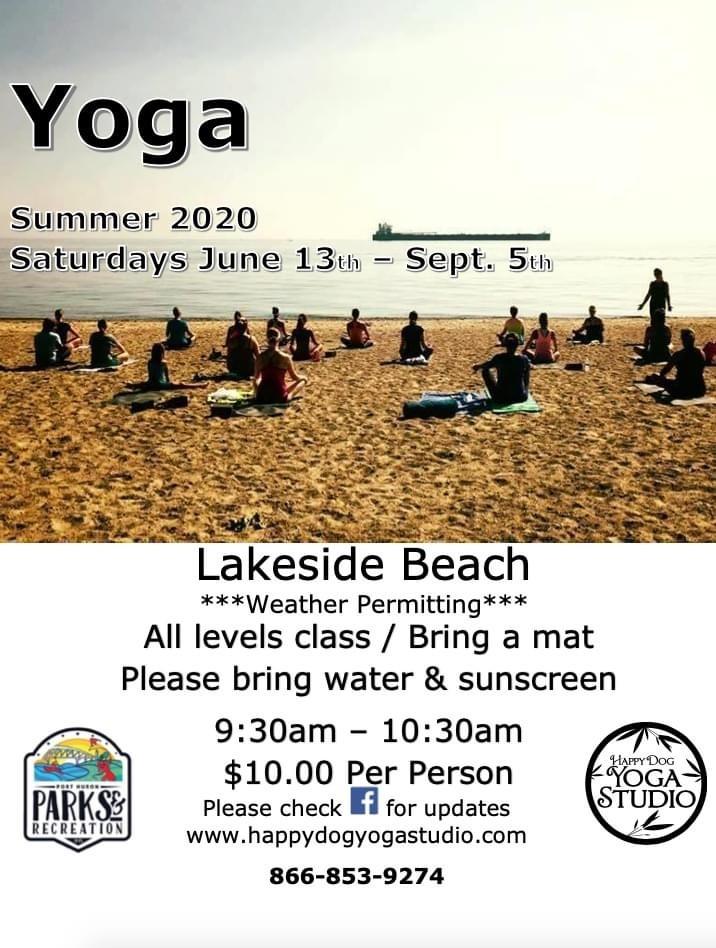 Outdoor Yoga - Lakeside Beach